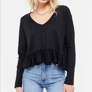 Truly Madly Deeply V-Neck Peplum Top
